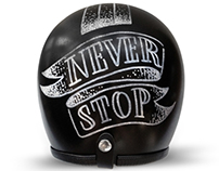 "Iron Lungs ""Never Stop"" Helmet Design"