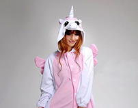 Cotton pink Unicorn Animal Onesie pajama-sale.com