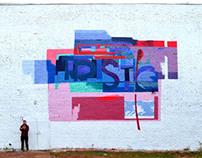 Futuristic mural