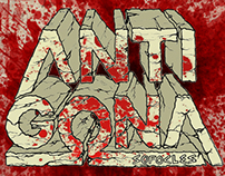 ANTIGONA lettering
