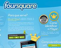 Infográfico - Como utilizar o Foursquare.