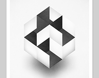Geometrik (1/01) 13x19 Inch Abstract Print