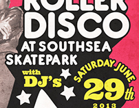 Durty Sound System Roller Disco 2013 Poster