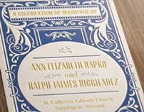 Wedding Program - Ann & Ralph