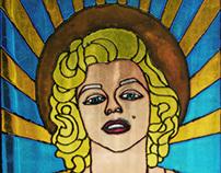Falso Vitraux - Marilyn Monroe