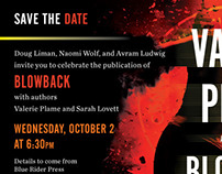 Blowback Save the Date ecard