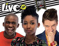 Cover Shoot For Live Mag SA