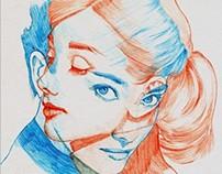Ball Point Pen Art  Audrey Hepburn