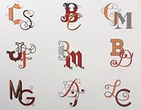 Monogram & Lettering Poster