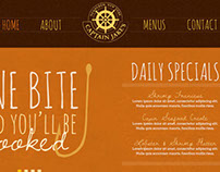 Captain Jake's Restaurant -- Website Concept Design