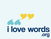 i love words.org Logo and Webpage Design