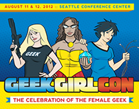 GeekGirlCon Program Booklet & Ad Collaterall