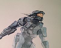 """""""Chief"""" Watercolour"""