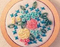Floral Hoop Art Necklace