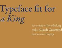 Adobe Garamond Type Speciman Poster