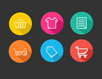 Shopping Flat UI Icons