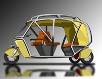 A safe and comfortable school autorickshaw