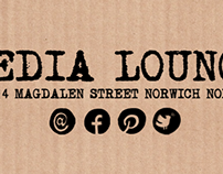 Proposed brand identity for Media Lounge restaurant