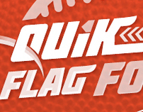 """Quik Snap Flag Football"" Logo Project"