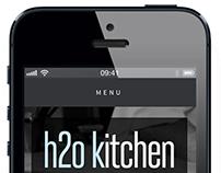 H2O Kitchen: Website, Print Design, and Branding