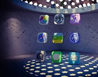 """iOS 7 """"3D icons"""""""