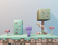 3D 8bit Game Concept