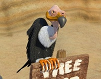 Vulture with a plan