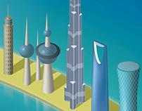 MENA region landmarks @ Dubai PALM