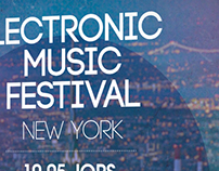 Electronic Music Festival - Poster Simulation