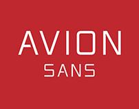 Avion Sans Typeface of 10 Fonts