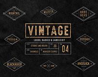 Vintage Badges Vol. 4- Rhombus Collection