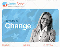 Time for A Change Political Flyer Template