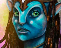 Coloring Process: Neytiri of Avatar