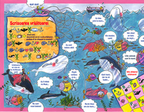 Games for childrens publications (books, magazins)