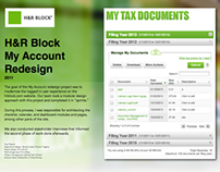 H&R Block My Account Redesign