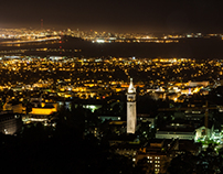 Berkeley, Bay Bridge and Golden Gate Bridge