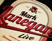 Mark Lanegan Poster. Coaster & Pressbook