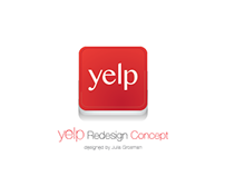 Yelp Personal Page Redesign Concept