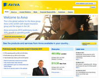 aviva.com, corporate website for Aviva plc