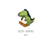 baby socks & package design