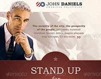 Stand Up for the City Political Flyer Template