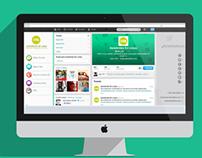 Gráfica para Redes Sociales de Asistentes en Línea