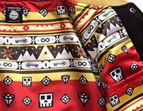 'Skulls & Stones' pattern