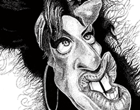 Stipple art   Caricature of Amy Winehouse