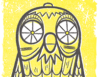 Bubo Screenprint