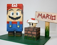 Wooden toy | Mario&mushroom
