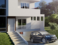 Exterior Visualization House Curitiba