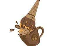 Ice bean logo   coffee & ice-cream shop