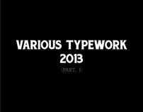 Various Typework 2013 (Part. 1)