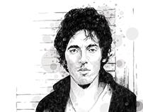 Digital Springsteen Portrait